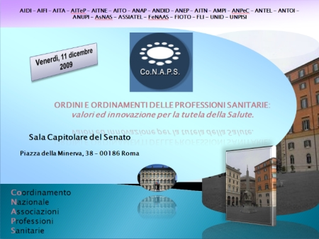 Conaps - WORKSHOP - ORDINI E ORDINAMENTI